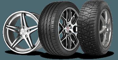 Snygga fälgar, däck och kompletta hjul