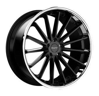 Ruff Racing R03 SATIN BLACK W/ STAINLESS STEEL LIP