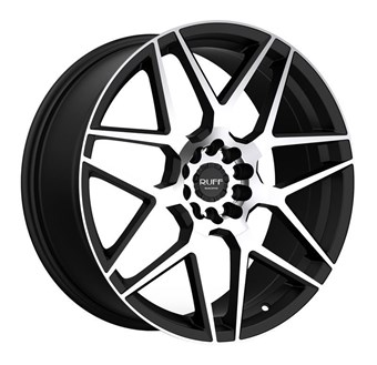 Ruff Racing R351 FLAT BLACK W/ MACHINED FACE