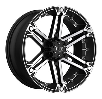 Tuff A/T T01 FLAT BLACK W/ MACHINED FACE AND CHROME INSERTS