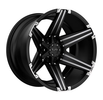 Tuff A/T T12 SATIN BLACK W/ MILLED SPOKES AND BRUSHED INSER
