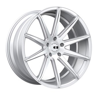 XO Luxury Wheels NEW YORK MATTE SILVER W/ BRUSHED FACE AND STAINLES