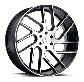 Status Wheels JUGGERNAUT GLOSS BLACK W/MACHINED FACE