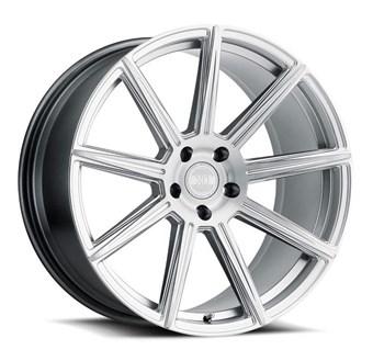 XO Luxury Wheels VEGAS SILVER W/BRUSHED SILVER FACE
