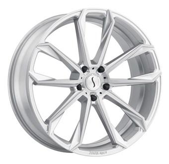 Status Wheels MASTADON 6 SILVER W/BRUSHED MACHINE FACE