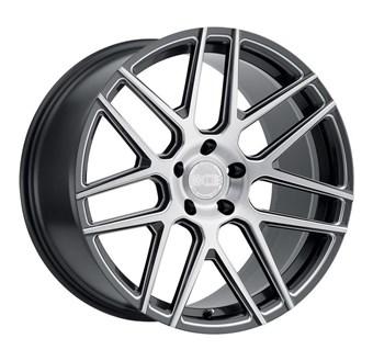 XO Luxury Wheels MOSCOW GLOSS GUNMETAL W/BALL MILLED SPOKE & BRUSHE