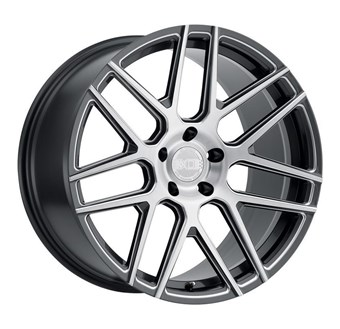 XO Luxury Wheels MOSCOW GLOSS GUNMETAL W/BALL MILLED SPOKE & BRUSHE