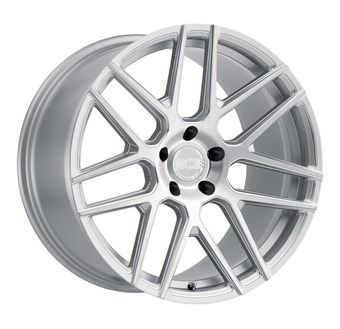 XO Luxury Wheels MOSCOW SILVER W/BALL MILLED SPOKE & BRUSHED FACE