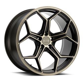 XO Luxury Wheels HELSINKI DARK BRONZE W/BRUSHED BRONZE FACE
