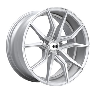 XO Luxury Wheels VERONA MATTE SILVER W/ BRUSHED FACE