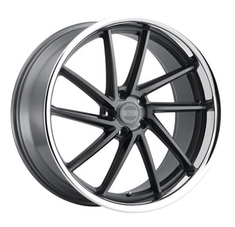 XO Luxury Wheels FLORENCE MATTE GUNMETAL W/BRUSHED GUNMETAL FACE &