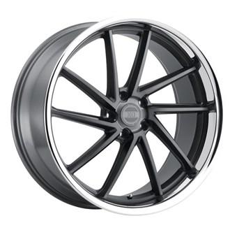 XO Luxury Wheels FLORENCE MATTE GUNMETAL W/BRUSHED GUNMETAL FACE &