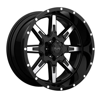 Tuff A/T T-15 GLOSS BLACK W/MACHINED FACE