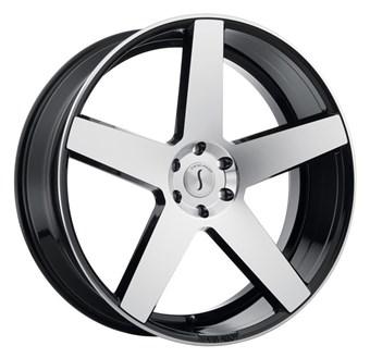 Status Wheels Empire GLOSS BLACK W/ MACHINED FACE