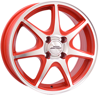 Inter Action Ice Matt red / polished