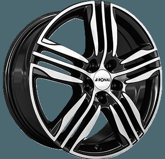 Ronal R57 Black / polished