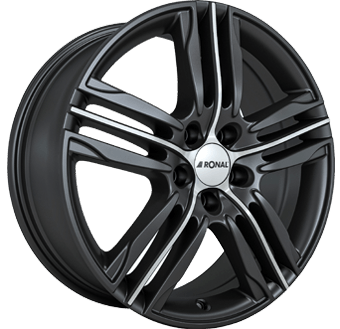 Ronal R57 Matt black / polished